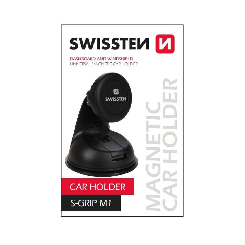 Magnetický držák mobilu s přísavkou SWISSTEN S-GRIP M1, 44443