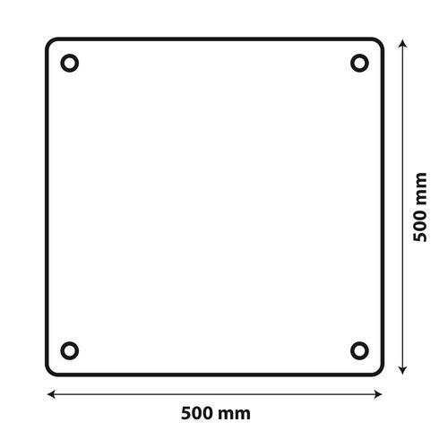 Výstražná tabule pro nadrozměrný náklad, hliníková, 50x50cm, homologace E, 66102