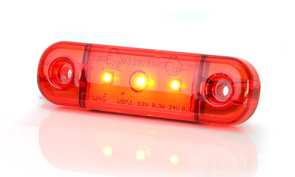 Poziční zadní světlo, 12V-24V, LED, W97.1