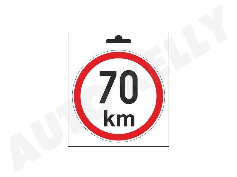 Samolepka omezená rychlost 70km/h