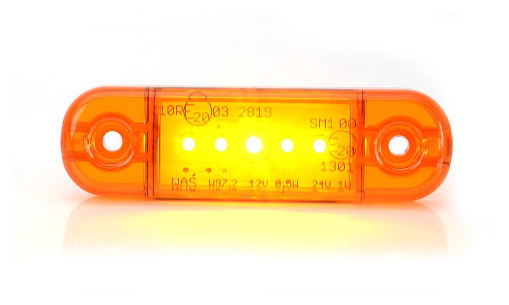 Poziční boční světlo, 12V-24V, LED, W97.2