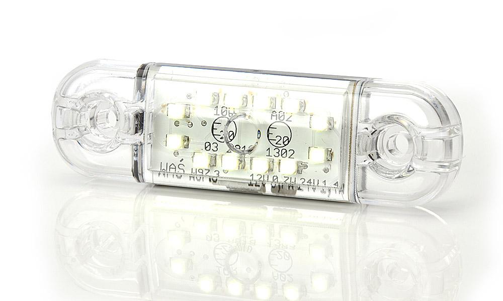 Poziční přední světlo, 12V-24V, LED, W97.3