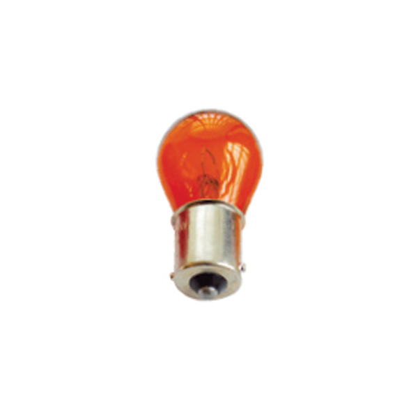 Žárovka 12V 10W s paticí červená - balení 10 ks