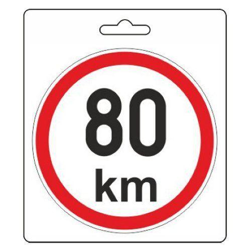 Samolepka omezená rychlost 80km/h
