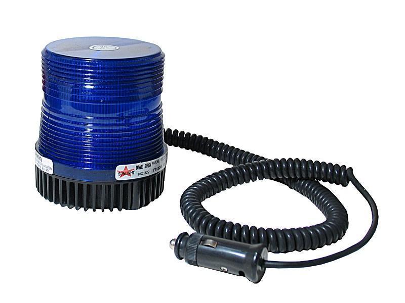 Maják 12V modrý xenon malý, 8302