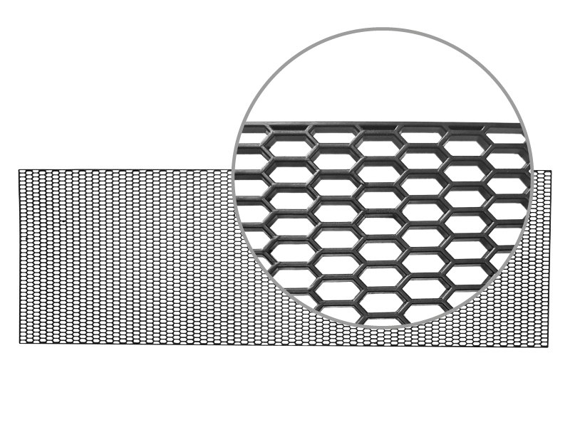 Plastová mřížka oko 10x25mm, rozměr 1200x40cm - barva černá, 86748
