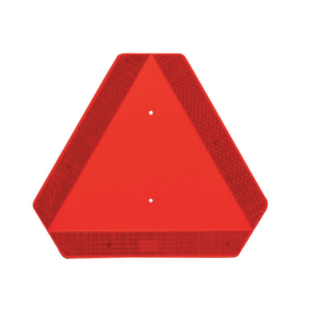 Reflexní trojúhelník pro pomalá vozidla, plechový