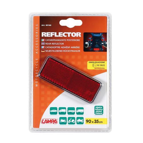 Odrazka červená, univerzální použití, 90x35mm, E11, 90160