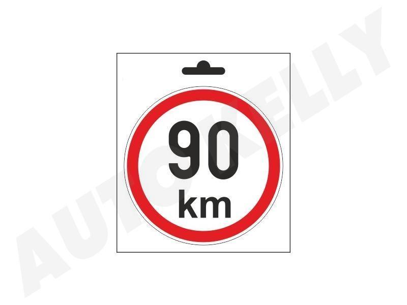 Samolepka omezená rychlost 90km/h