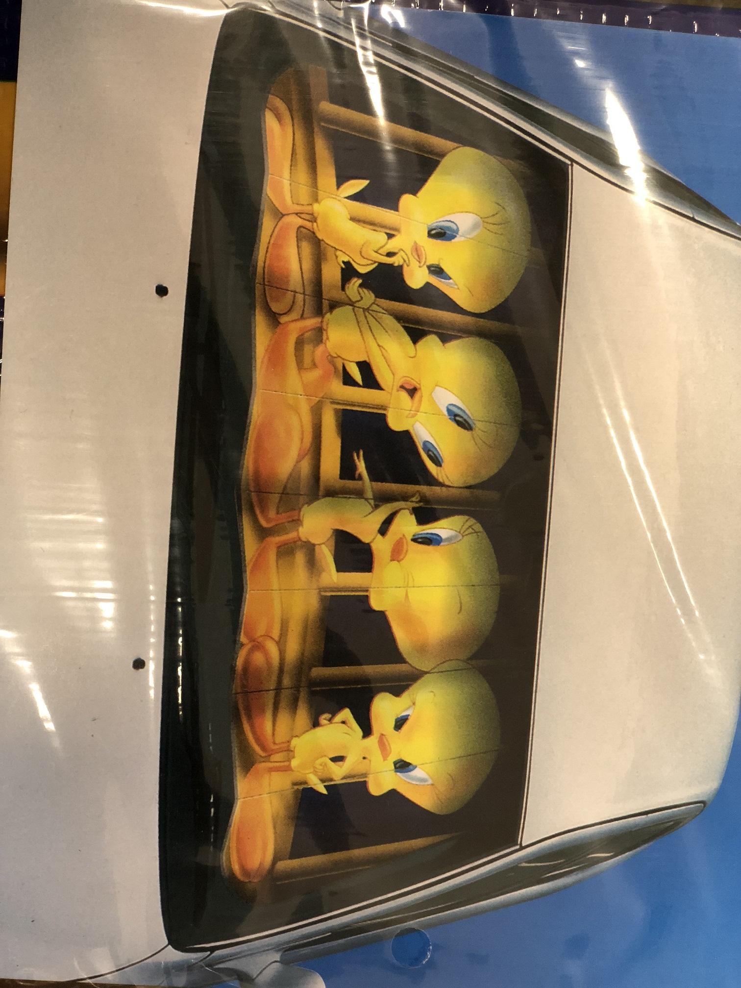 """Clona letní na čelní sklo 60x130 cm """"TWEETY"""", 66210"""