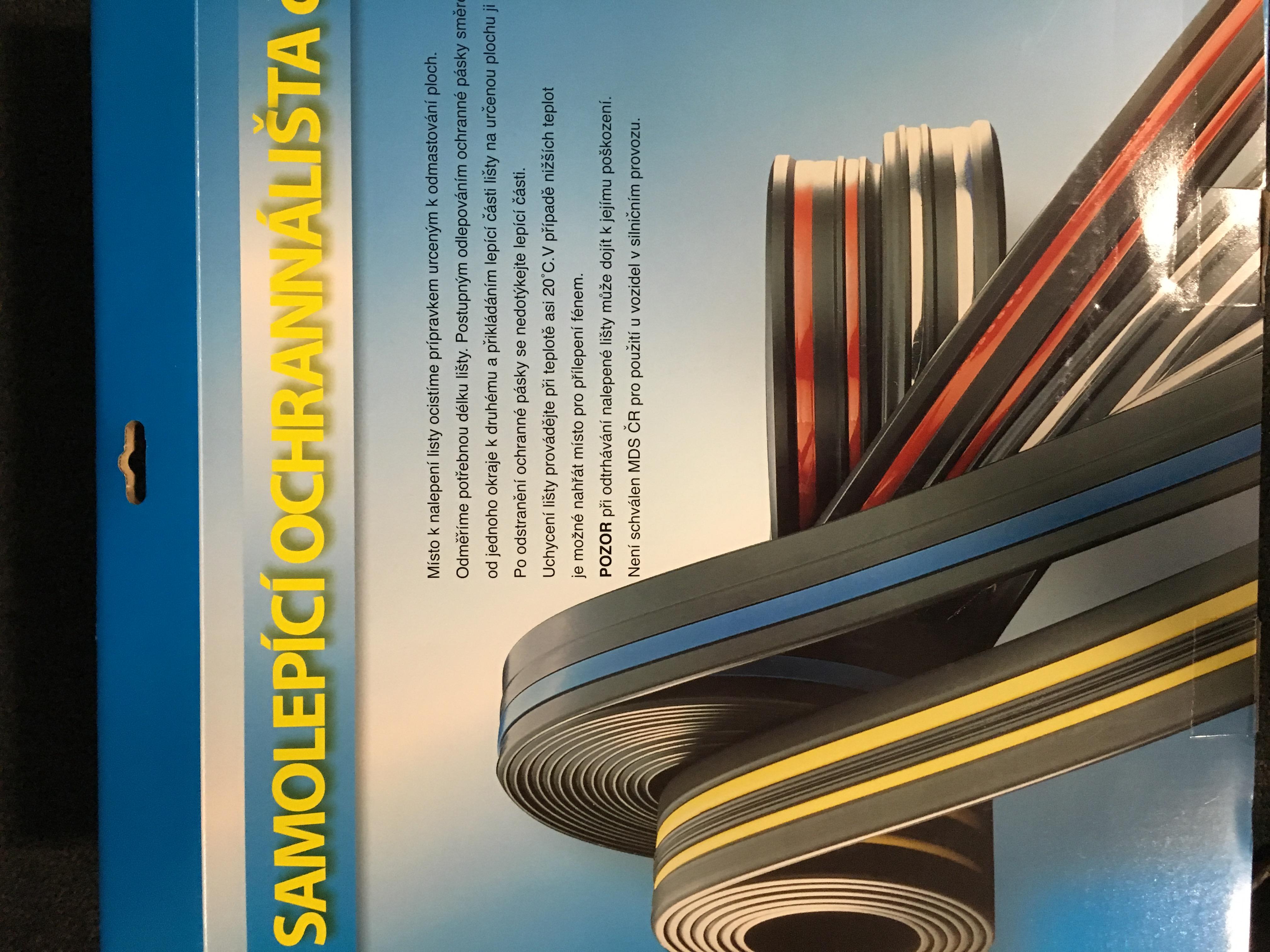 Samolepící lišta černá, 5m, 61x9mm,31001A/5