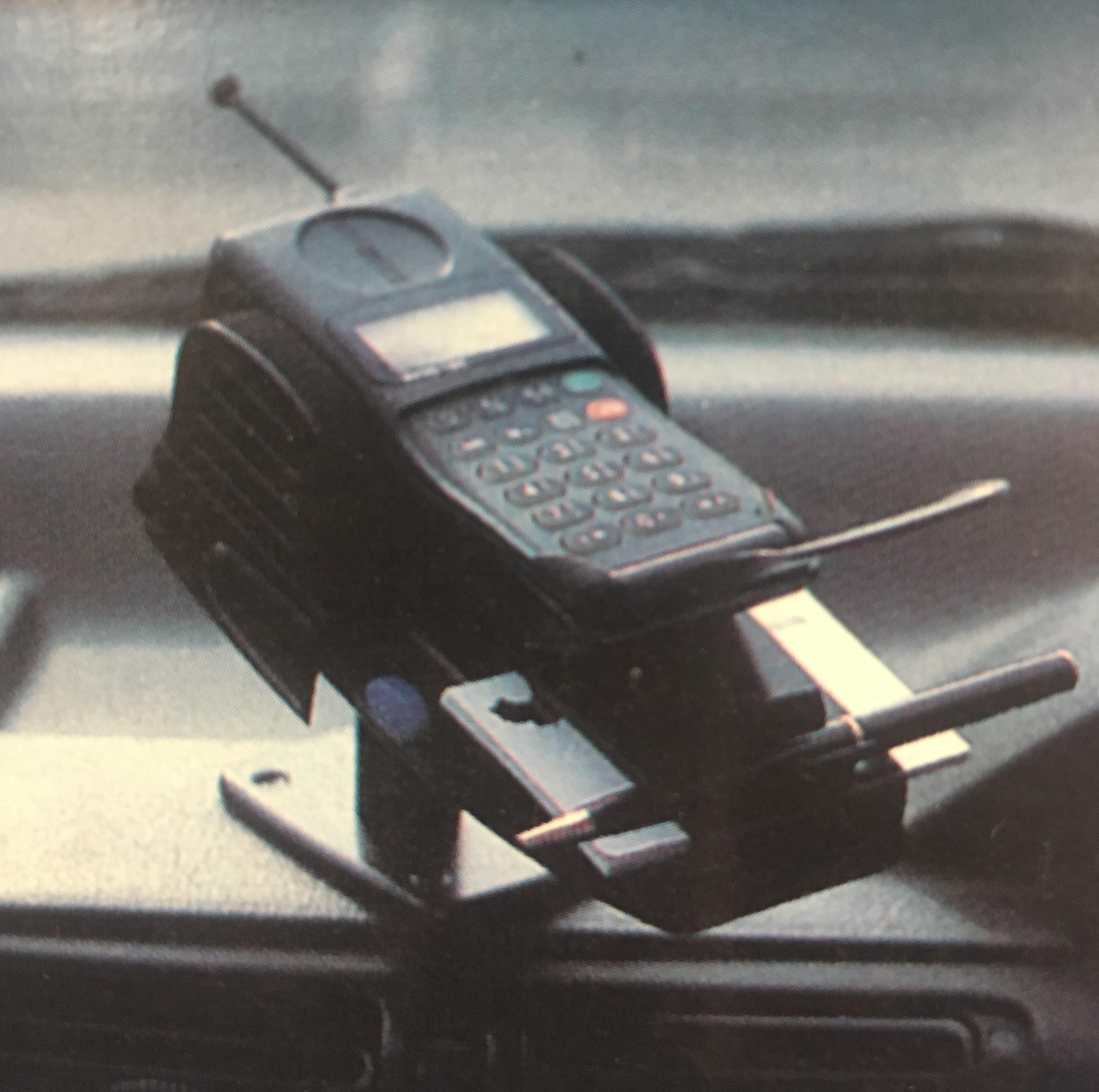 Držák telefonu černý 02163