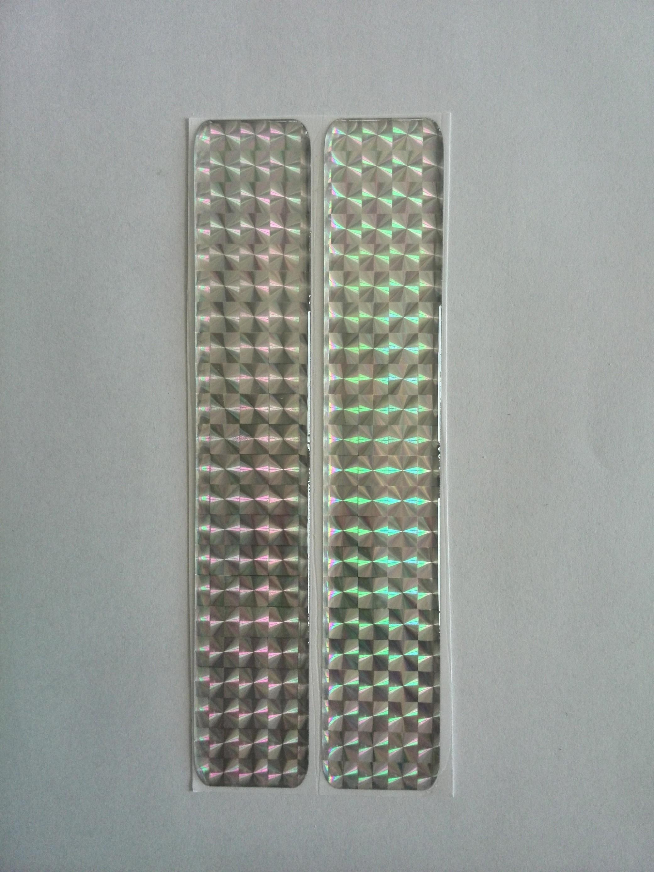 Odrazka 2,5x7 cm stříbrná, samolepící