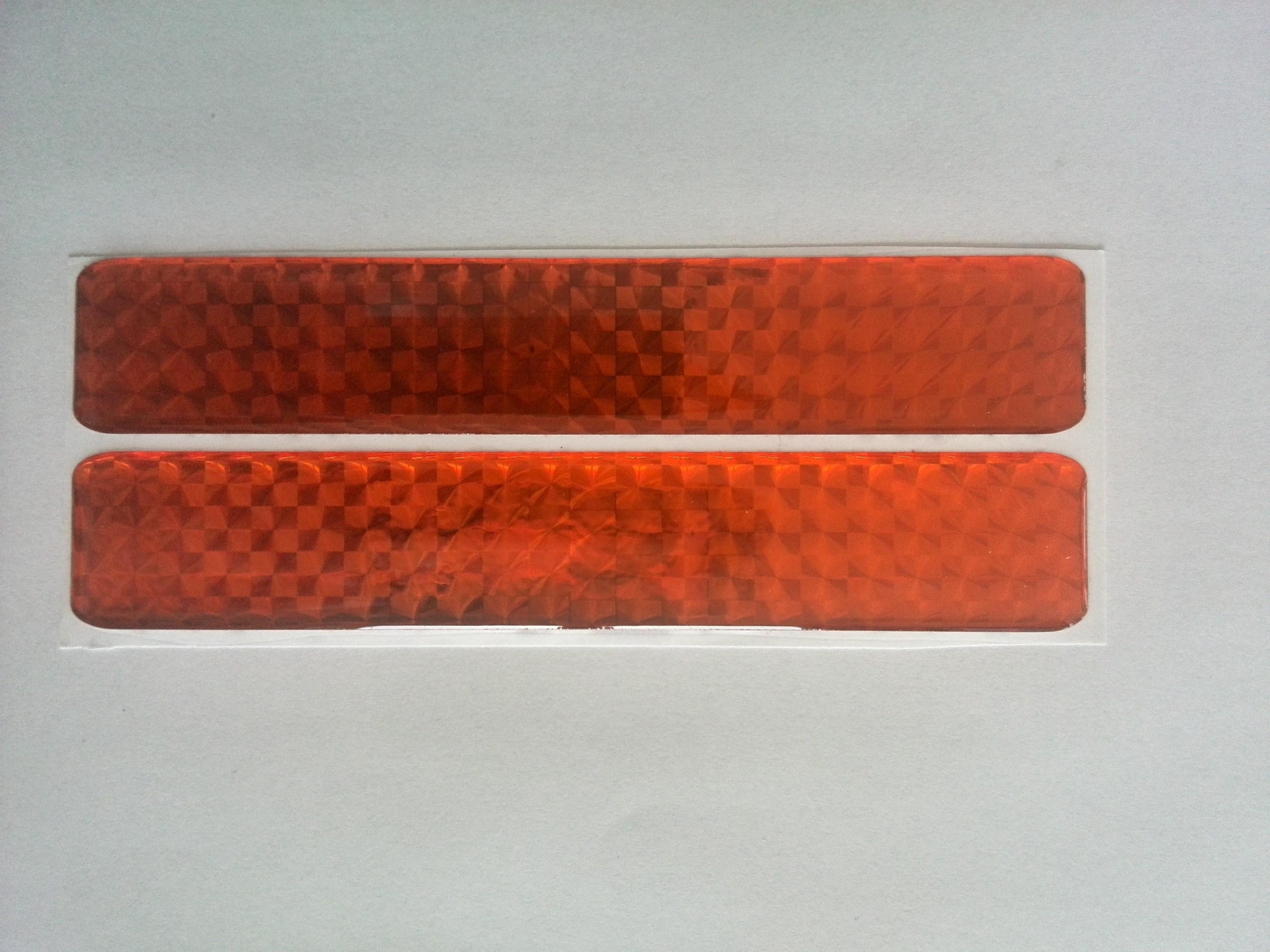 Odrazka 2,5x14 cm oranžová, samolepící