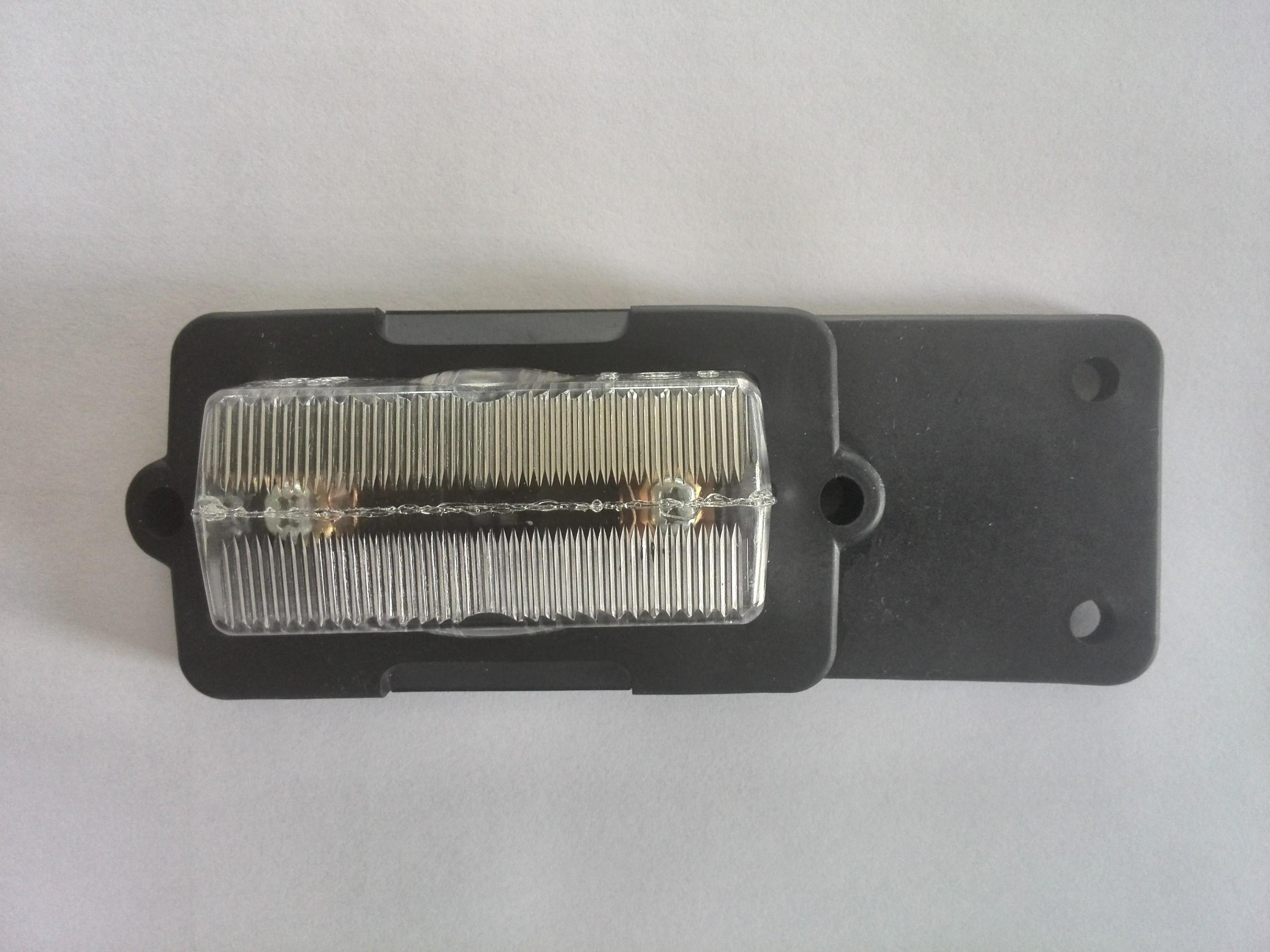 Obrysové světlo bílé přední 12V-24V  PO2
