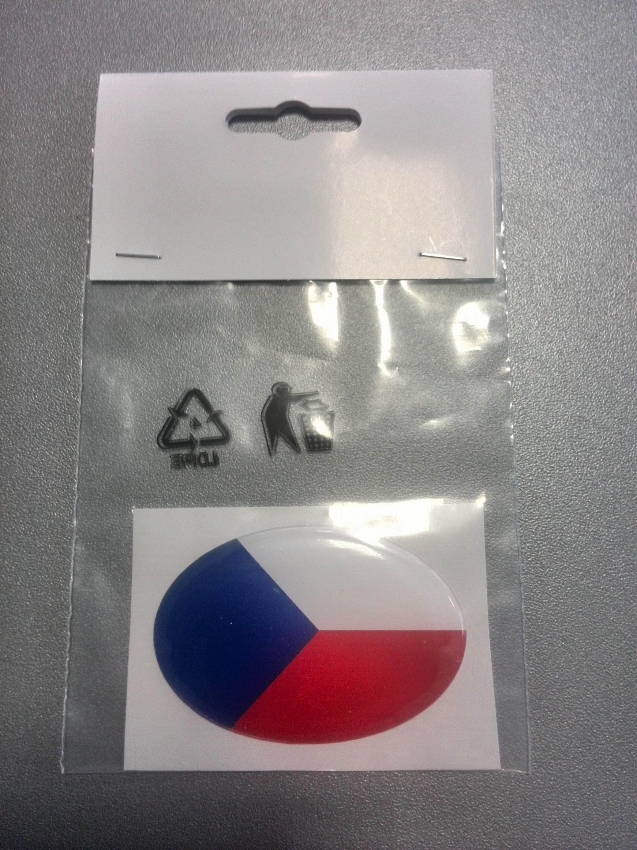 ČR vlajka oval, A-CZ-032