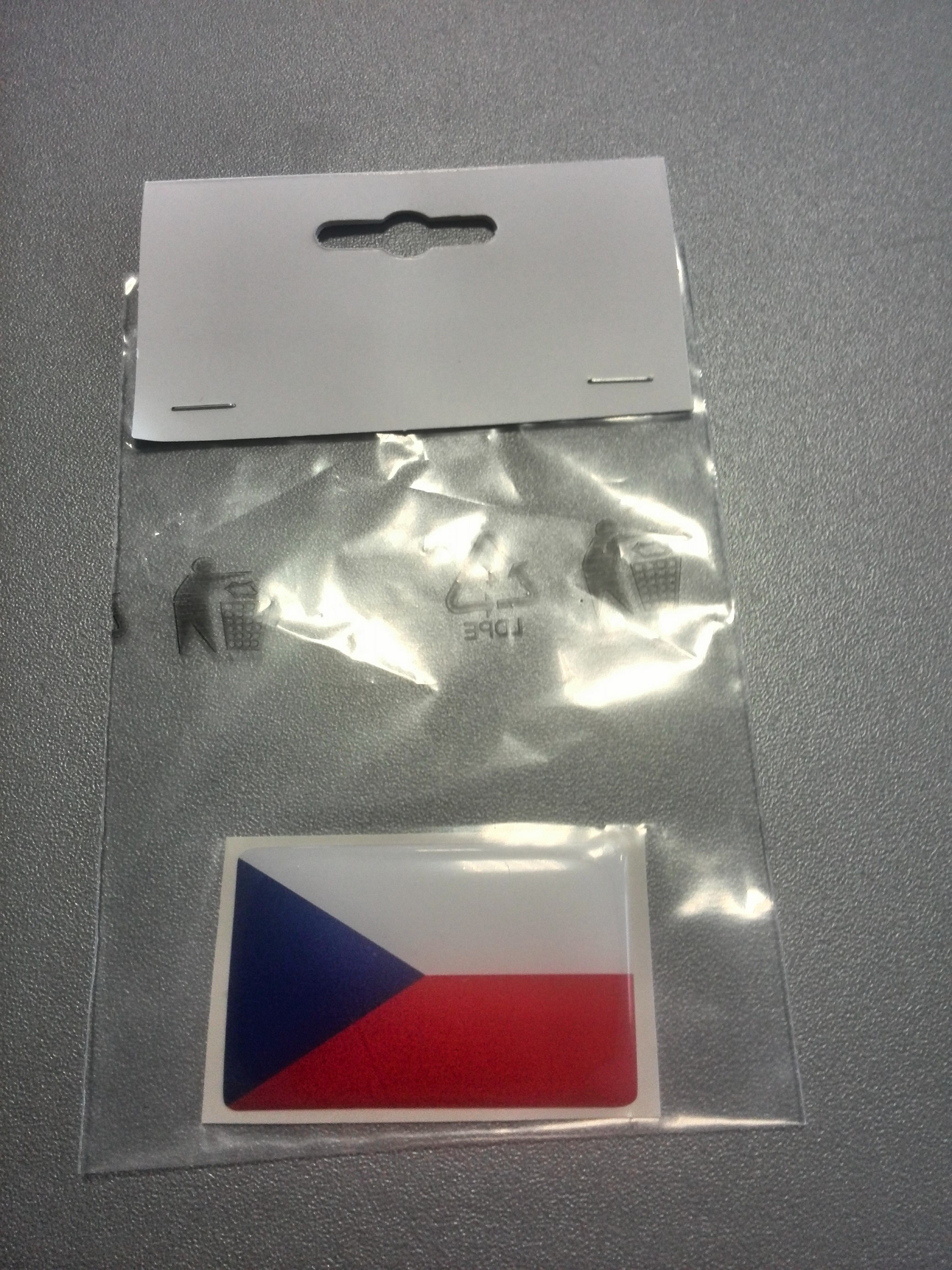 ČR vlajka 5x3cm poloplast