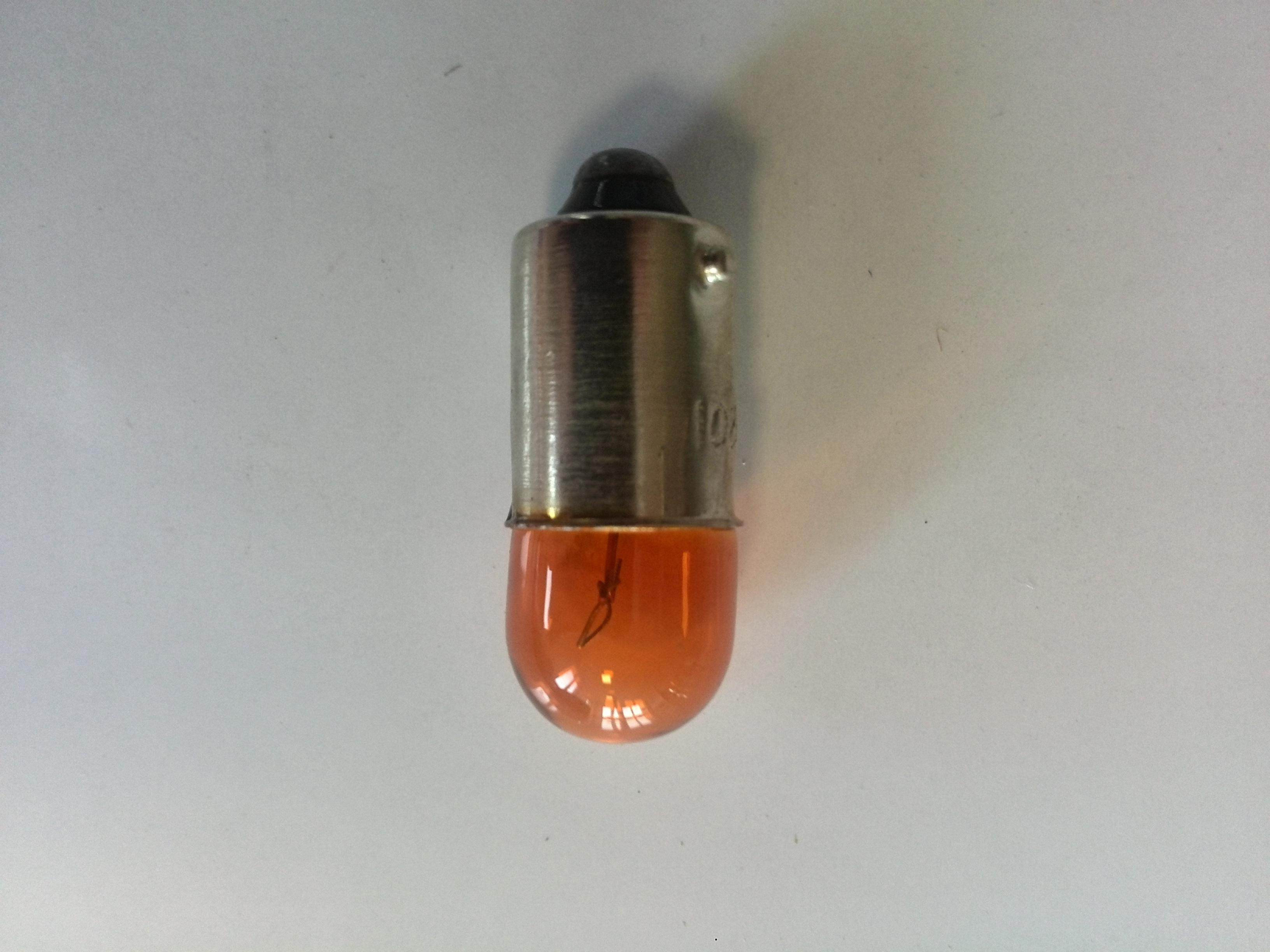 Žárovka 12V/4W s paticí - oranžová - balení 10 ks