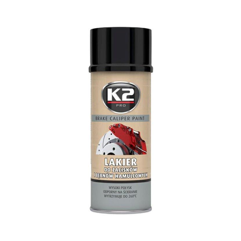 K2 BRAKE CALIPER PAINT 400 ml ČERNÁ - barva na brzdové třmeny a bubny, L346CA