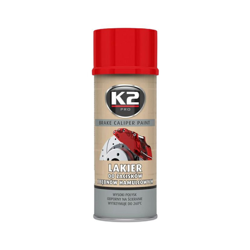 K2 BRAKE CALIPER PAINT 400 ml ČERVENÁ - barva na brzdové třmeny a bubny, L346CE