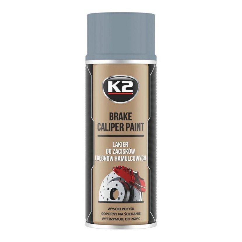 K2 BRAKE CALIPER PAINT 400 ml STŘÍBRNÁ - barva na brzdové třmeny a bubny, L346SR
