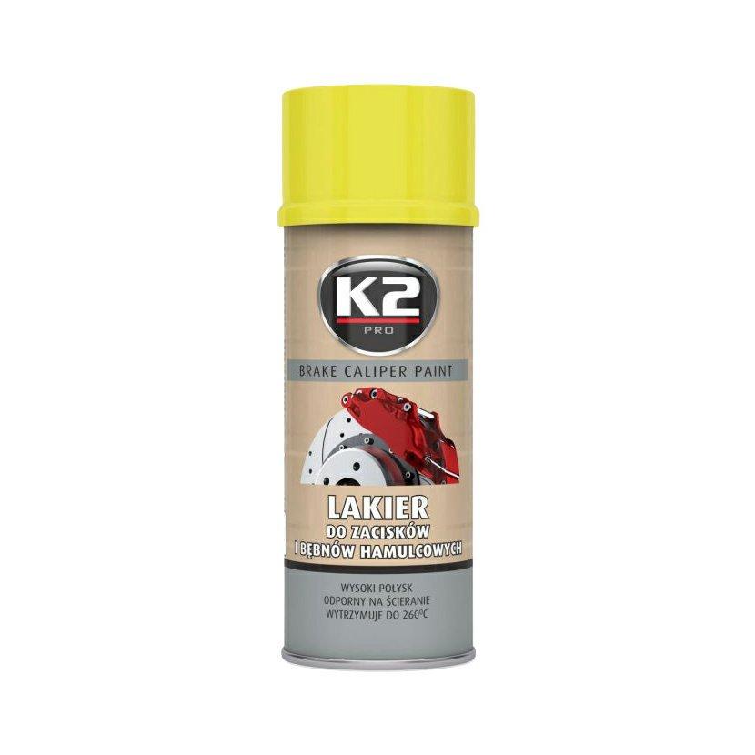 K2 BRAKE CALIPER PAINT 400 ml ŽLUTÁ - barva na brzdové třmeny a bubny, L346ZO