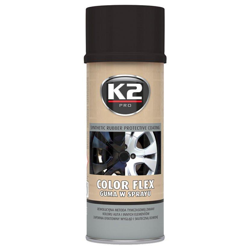 K2 COLOR FLEX 400ml ČERNÁ LESKLÁ - ochranný natěr ze syntetického kaučuku 400ml, L343CP