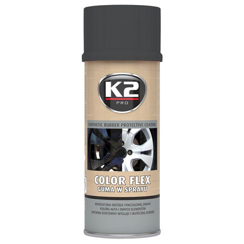 K2 COLOR FLEX 400 ml ČERNÁ MATNÁ - ochranný nátěr ze syntetického kaučuku, L343CM