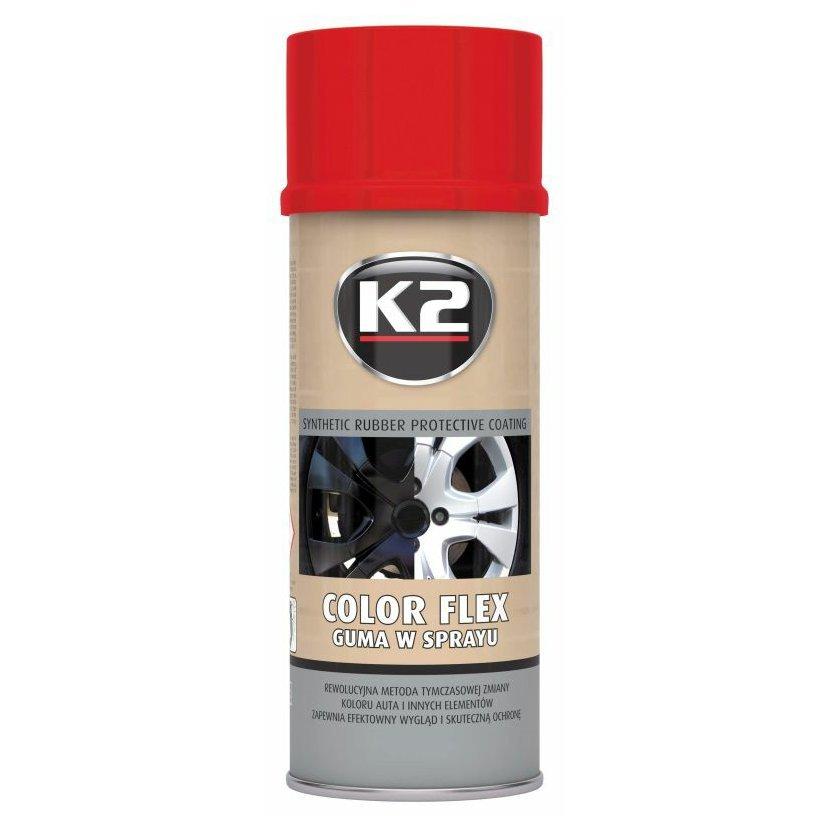 K2 COLOR FLEX 400 ml ČERVENÁ - ochranný nátěr ze syntetického kaučuku, L343CE