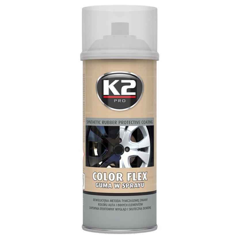 K2 COLOR FLEX 400ml ČIRÁ - ochranný natěr ze syntetického kaučuku 400ml, L343CL