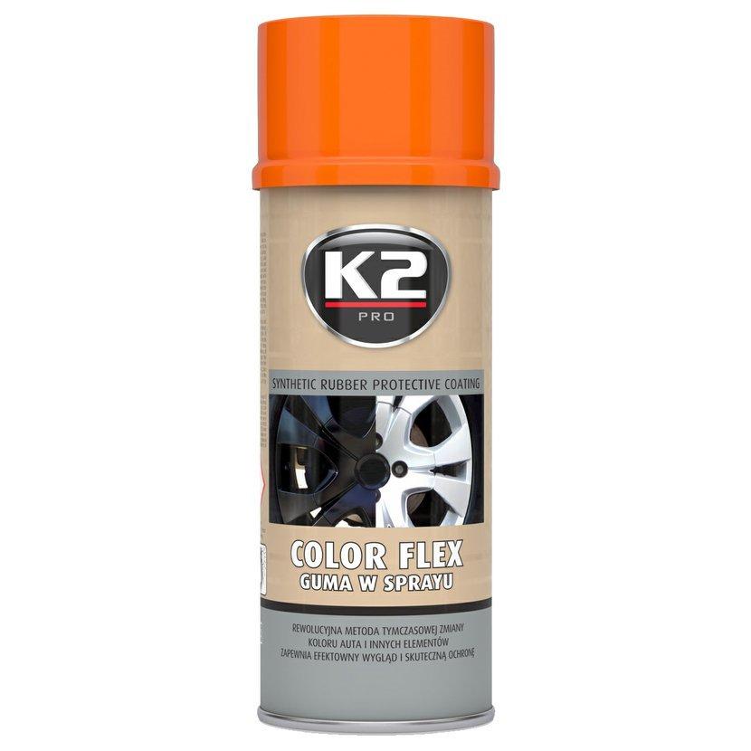 K2 COLOR FLEX 400ml ORANŹOVÁ - ochranný natěr ze syntetického kaučuku 400ml, L343PO