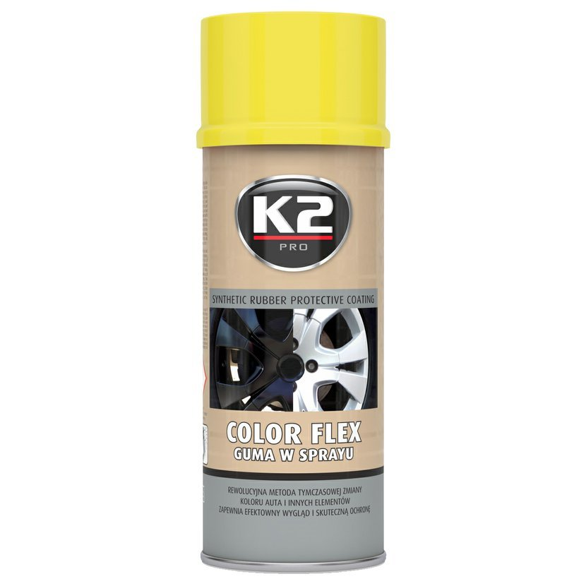 K2 COLOR FLEX 400ml ŽLUTÁ - ochranný natěr ze syntetického kaučuku 400ml, L343ZO
