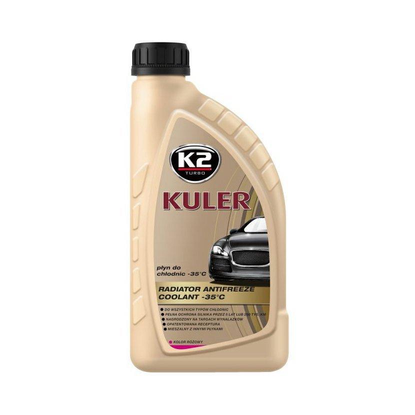 K2 KULER RŮŽOVÁ 1 l - nemrznoucí kapalina do chladiče do -35 °C, T201R