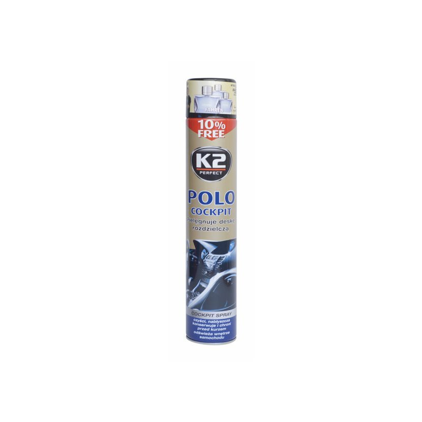 K2 POLO COCKPIT 750 ml BLACK - ochrana vnitřních plastů, K407FA0