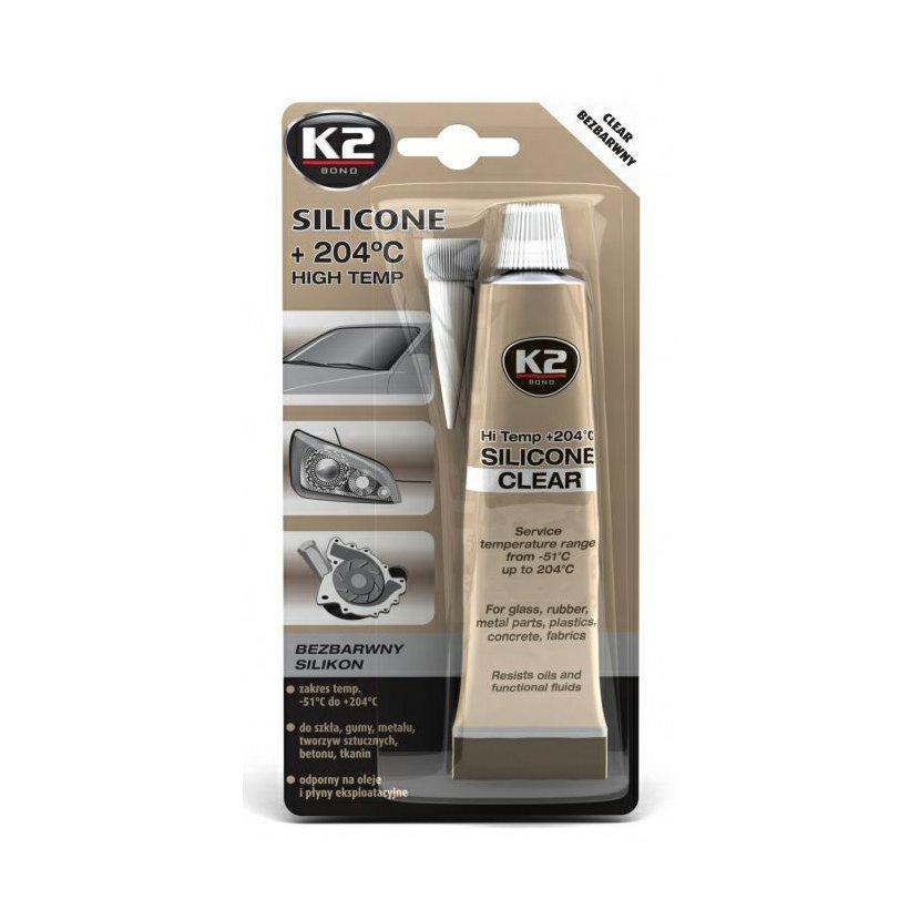 K2 SILICONE CLEAR 85 g - vysokoteplotní čirý silikon, B255