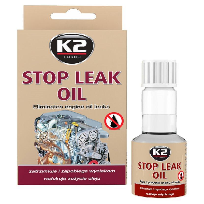 K2 STOP LEAK OIL 50 ml - zamezuje únikům oleje z motoru, T377