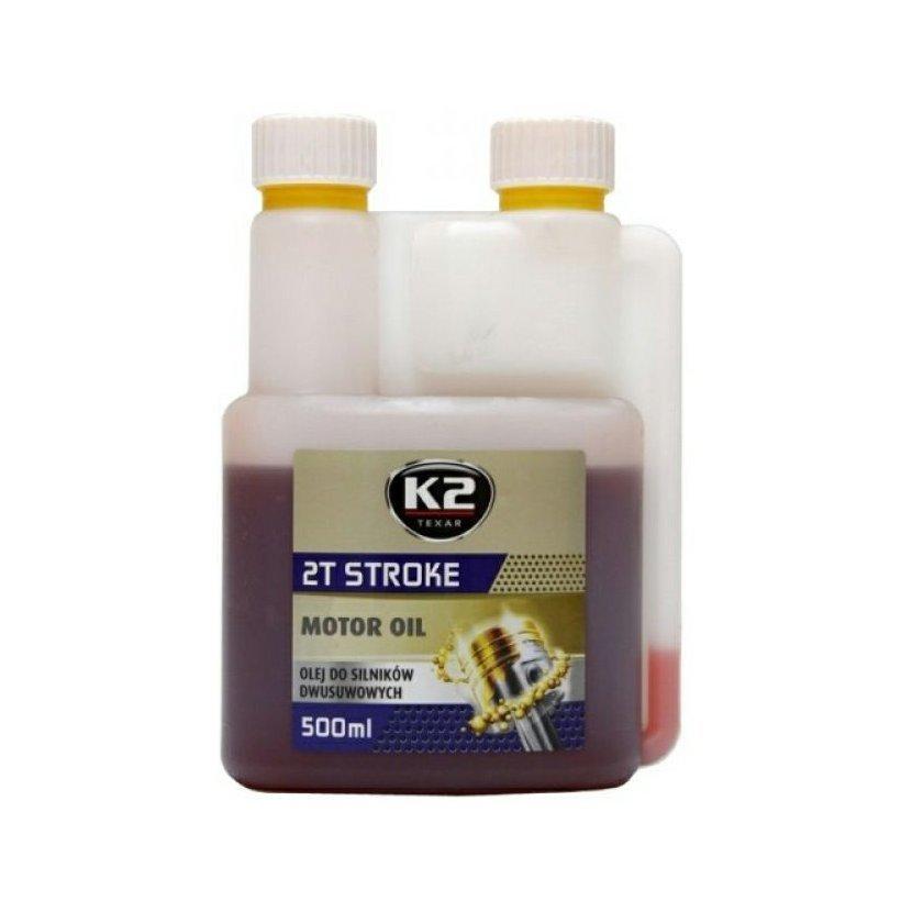 K2 TEXAR 2T STROKE 500 ml ČERVENÁ - motorový olej polosyntetický