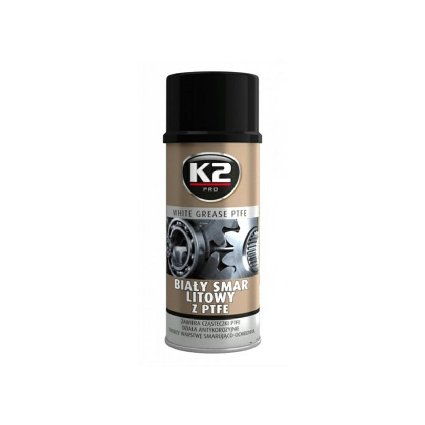 K2 WHITE GREASE PTFE 400 ml - aerosolové mazivo na lithiové bázi, W121