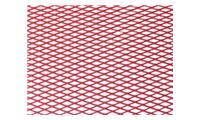 Hliníková mřížka  (Tahokov) rozměr 24x50cm - červená, 80152
