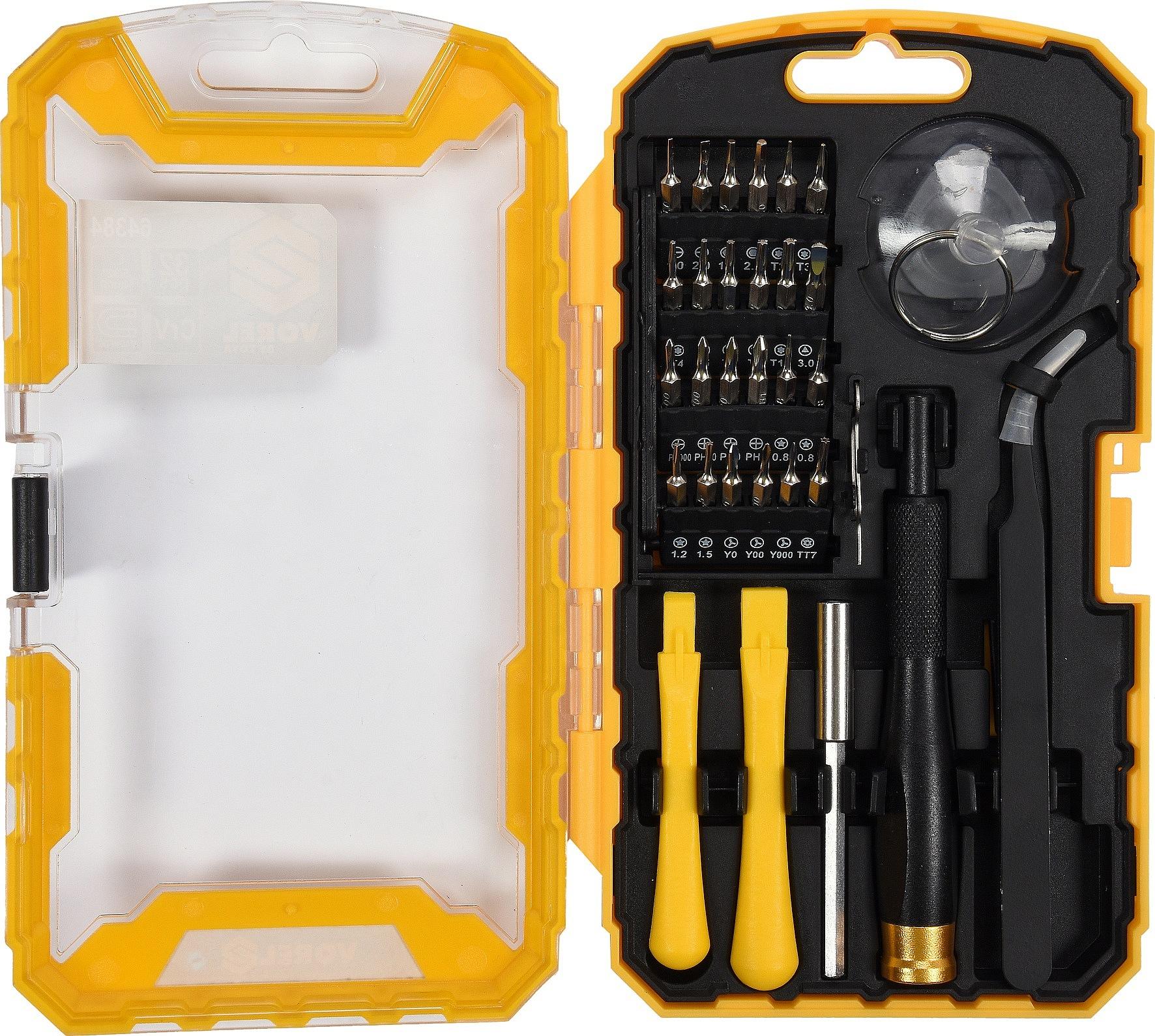 Šroubovák s nástavci a nástroji pro mobilní telefony sada 32ks, VOREL
