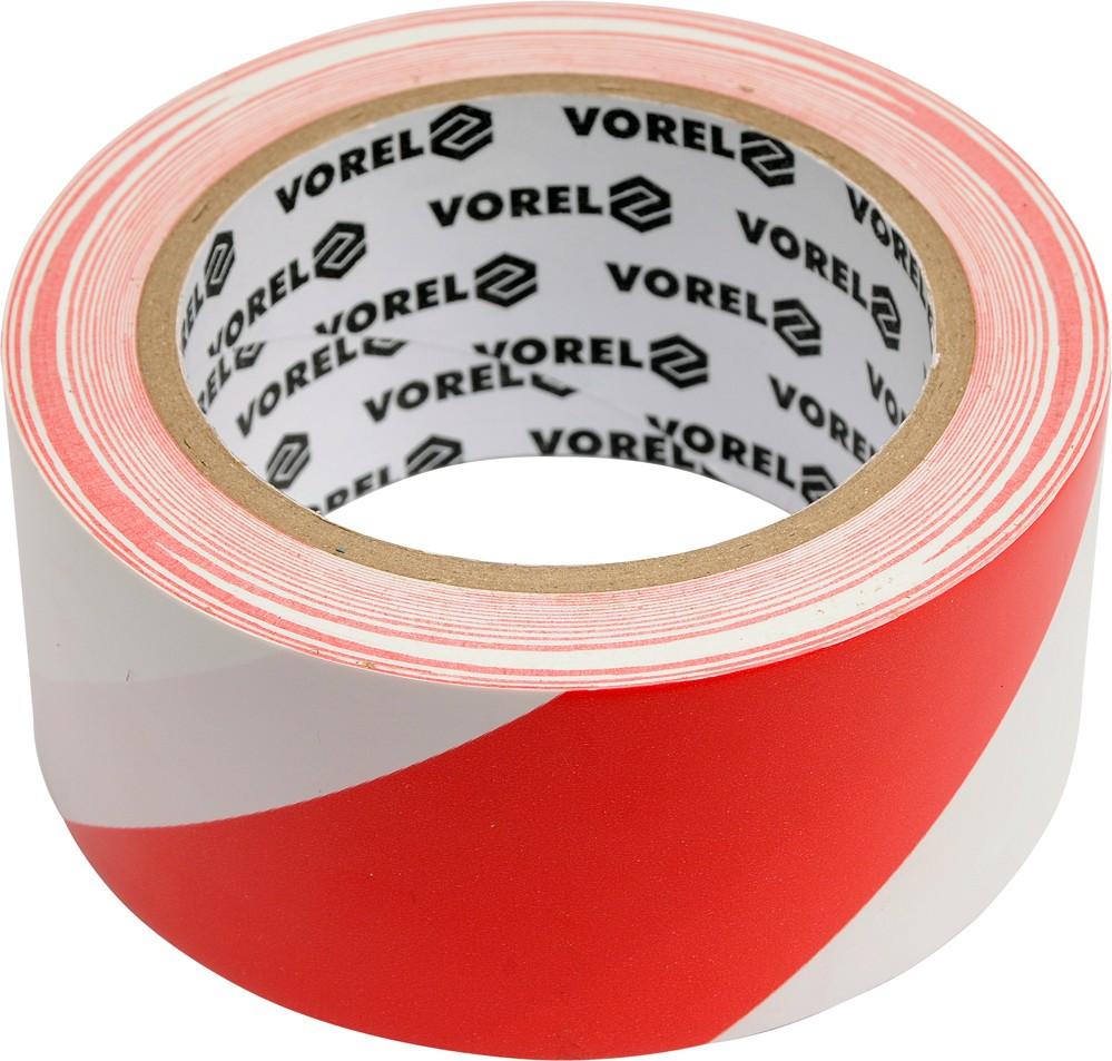 Páska výstražná červenobílá 48 mm x 33 m, VOREL