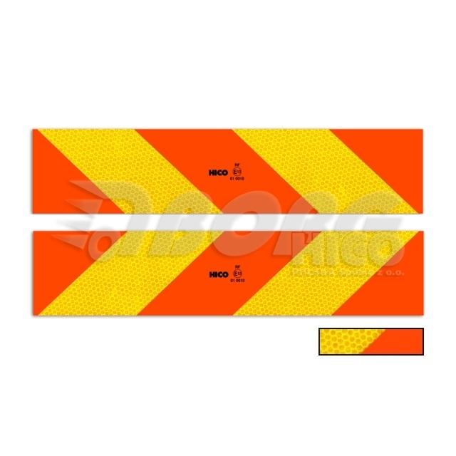 Tabule na auto šrafovaná RR tahač samolepící 2ks 566x132mm TWY149  ECE 70.01 E20