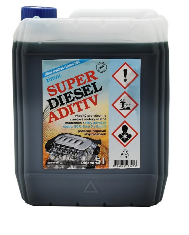 Diesel ADITIV VIF 1:1000 zimní, 5l