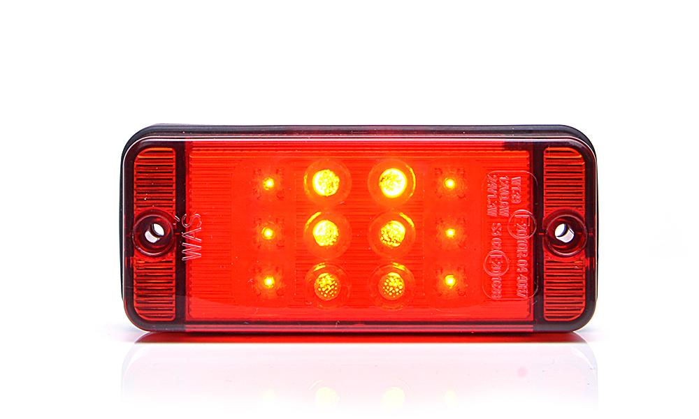 Světlo stop, 12V-24V, LED, W139