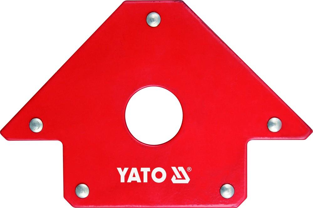Úhelník magnetický ke svařování 22,5 kg s otvorem, YATO