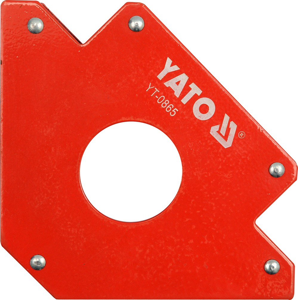 Úhelník magnetický ke svařování 34 kg s otvorem, YATO