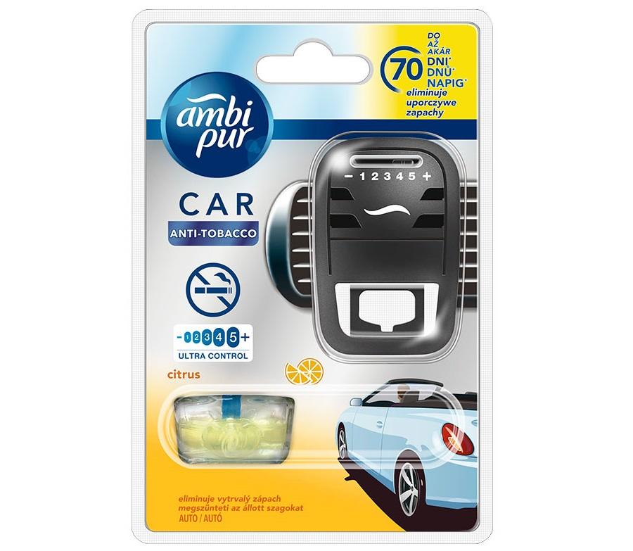 AMBI-PUR CAR strojek - ANTI TOBACCO CITRUS
