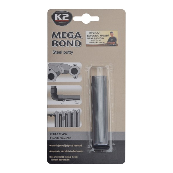 K2 MEGA BOND 60 g - ocelová plastelína na opravu, B321