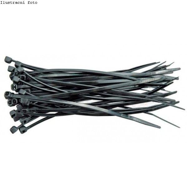 Stahovací páska 200x4,5 mm, černá (balení 25ks), 42276