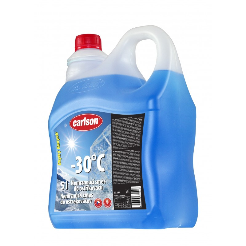 Nemrznoucí směs do ostřikovačů CARLSON  -30°C  5l. smart nálevka, 33.244